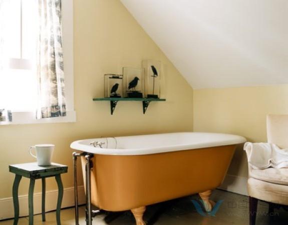 橙色系整体卫浴 给夏天加点明亮的酱料吧!