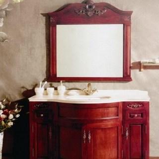 【四维卫浴】四维仿古红1.22M浴室柜