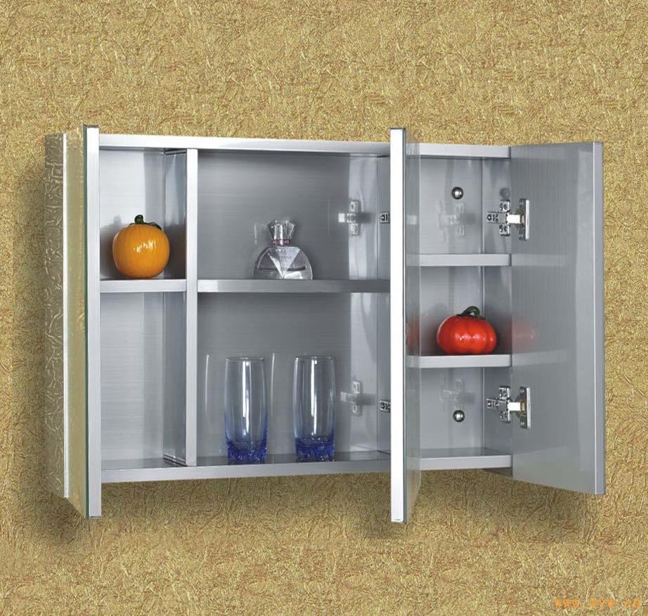 供应不锈钢包边镜子镜柜卫生间镜柜带置物架