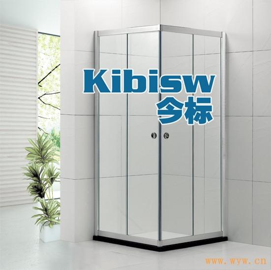 供应L方形淋浴房钢化玻璃浴室隔断