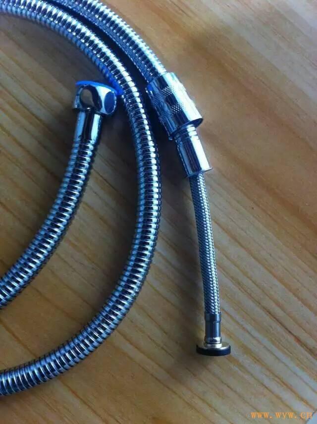供应加密不锈钢丝编织抽拉式淋浴软管
