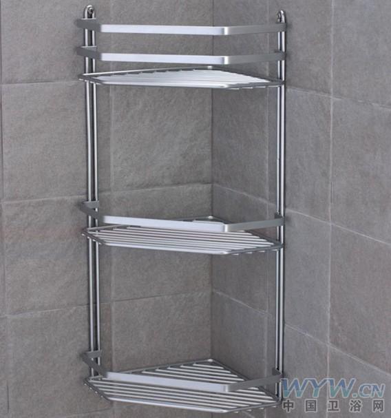 求购三层不锈钢浴室置物架图片