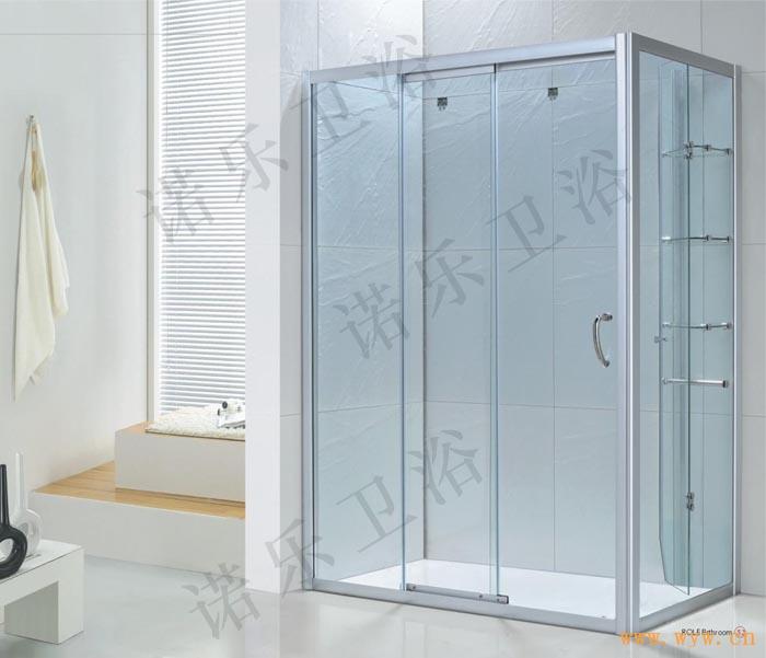 供应移门式淋浴房高清安装效果图 图片