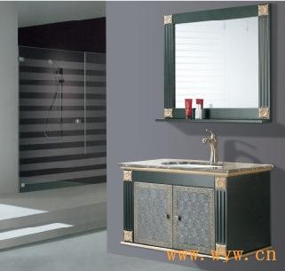 供应黑色印花浴室柜|描金浴室柜|欧式吊柜