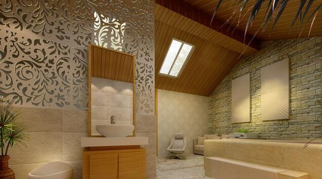 中式风格卫浴装修效果图