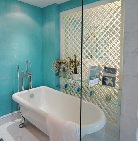 狭窄洗手间装修设计结果图 小清爽的浪漫走起