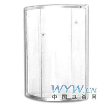 淋浴房浴室柜龙头花洒  产品名称:美标西雅图弧形淋浴房型号:高清图片