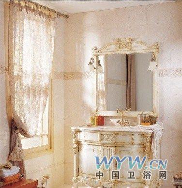 欧式古典风格后的浴室柜设计