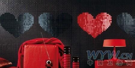 """马赛克堆砌的浪漫卫浴空间 奢华浴室的""""心""""定义"""