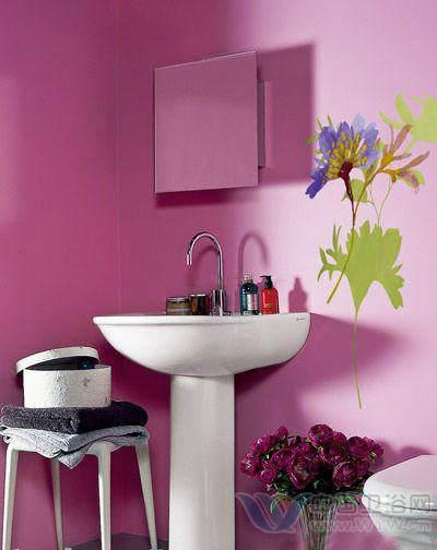 洗手间装修效果图 花朵带来惊艳美