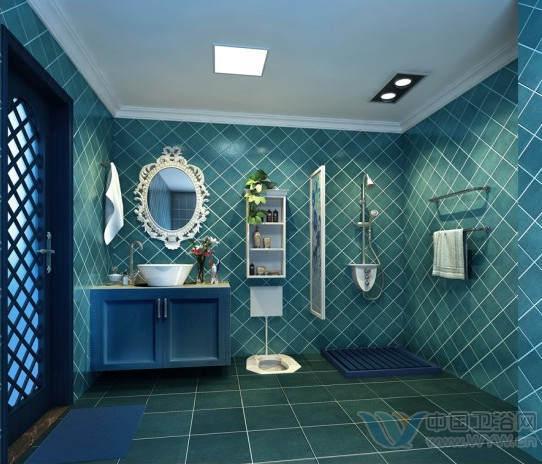 地中海洗手间装修 我家厕所很清新