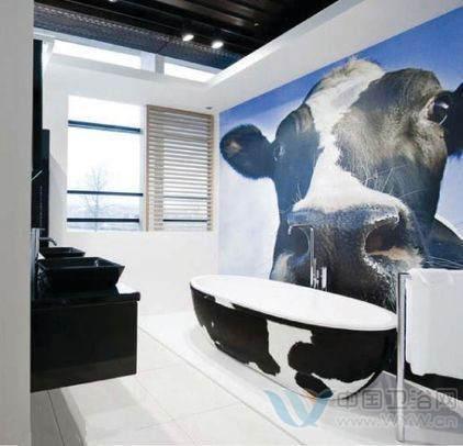这间洗手间装修效果图的主人一定很喜欢小   动物   ,从洗高清图片