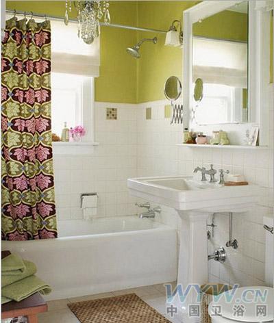 家庭浴室装修图片 清新色调设计享受美好生活