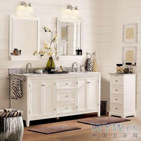 浅色地板的爱恋 唯美欧式风格浴室案例