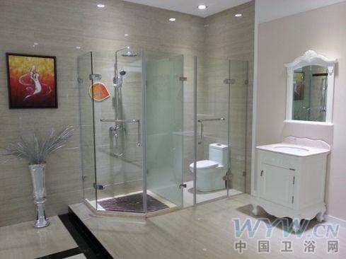 淋浴房展示区效果展示-朗司卫浴总部展厅新形象迎旺季