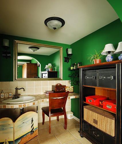 洗手间装修效果图 时尚小空间只为这样的幸福生活
