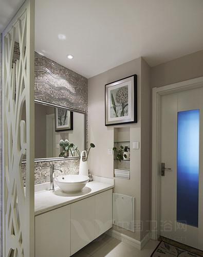 洗手间装修效果图 舒适清爽的家居空间