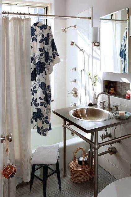 小洗手间装修效果图 迷你卫浴间求生记 高清图片