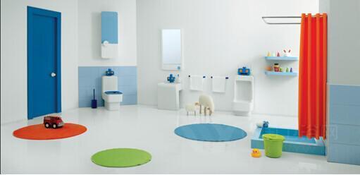 以机器人为主题而设计的整体卫浴套间为孩子量身订造增添卫生间