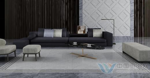 灰色欧式沙发效果图