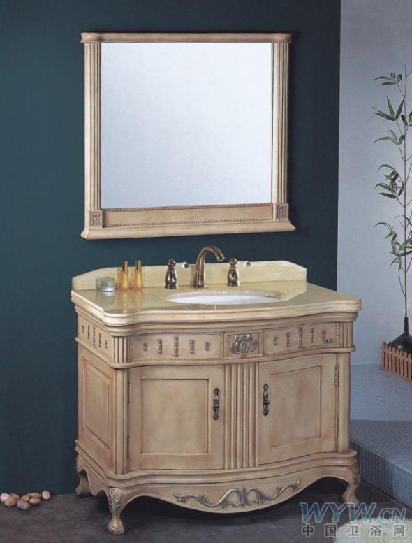 > 供应blj-8086欧式风格橡胶木浴室柜