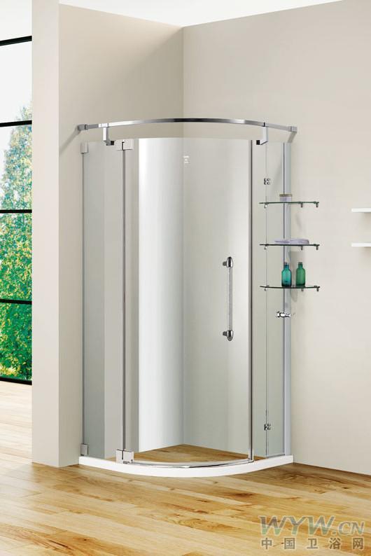 淋浴房品牌登宇洁具产品型号:dh391kl-v尺寸开门方式:半弧形高清图片