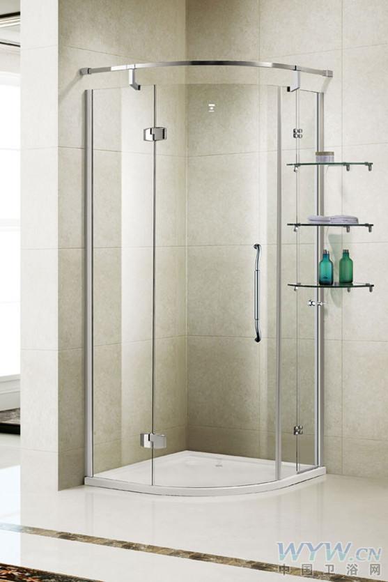 十大淋浴房品牌登宇洁具淋浴房dz391kl-v尺寸开门方式:半弧高清图片